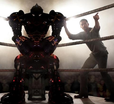Robô no ringue de batalha